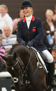 Queen Elizabeth II's granddaughter Zara Phillips is competing in the Olympics. An experienced equestrian, Zara is one of five members of Great Britain's eventing team.