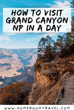 Spending one day in the Grand Canyon will enable you to see the majestic canyon from a ton of different viewpoints and make for an enjoyable day. Hike into the Grand Canyon on the Bright Angel Trail. Hermits Rest, South Kaibab Trail, Rim Trail, 7 Wonders of the World, South Rim, North Rim, Grand Canyon West #grandcanyon #arizona #usnationalpark #southrimitinerary #arizonanationalpark