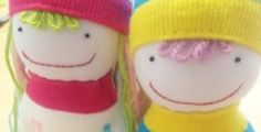 How to make socks doll – step by step instruction – cute lovely boy and girl