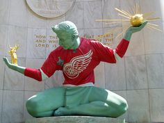"""The Red Wings have """"the longest active streak in any major sport"""" with a playoff streak """"older than goalie Jared Coreau."""" 