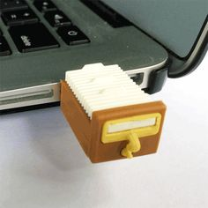 Oh, love it! #Library Card Catalog USB Drive