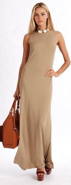 Ralph Lauren beige maxi dress