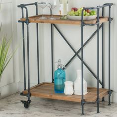 10 Stylish Budget Friendly Bar Carts for Apartments and Homes. These inexpensive bar carts won't break the bank, and open you up for all sorts of diy decor and styling ideas. Get inspired to bring a piece of functional art or decor like this to your dining room.