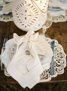 Rustic and romantic table.  Photo Credit: Jose Villa