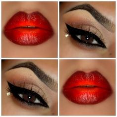 Modernize the timeless pin up look with updated textures on the eye shadows and an ombre finish on the lips. DIY this beautiful makeup on your next night out by following the how to.