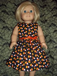 Candy corn dress for American Girl doll