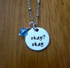 "This necklace. | 31 Incredible Etsy Products For ""The Fault In Our Stars"" Fans"
