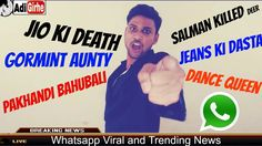 Funny JIO News Reporter | Now a days Social Media Effect | Whatsapp message Trend |