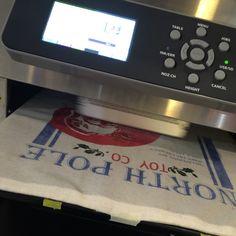 Santa pillow being printed