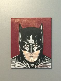 "8""x10"" ORIGINAL Ben Affleck Batman 'In The Year Of Our Bat 2016' acrylic painting by JMatthewWelker. Superhero Pop Art, Ben Affleck Batman, The Originals, Handmade Gifts, Big, Painting, Fictional Characters, Etsy, Vintage"