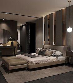87 extraordinary and inspiring home bedroom interior design for decoration 87 Modern Luxury Bedroom, Luxury Bedroom Design, Master Bedroom Design, Trendy Bedroom, Contemporary Bedroom, Luxurious Bedrooms, Home Decor Bedroom, Contemporary Style, Bedroom Ideas