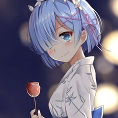 When the anime was released, it caused a lot of commotion.At that time, I was also deeply attracted by this animation. Fan Anime, Anime Manga, Anime Art, Cute Anime Pics, Anime Girl Cute, Rem Re Zero, Subaru, Ram And Rem, Cute Couple Cartoon