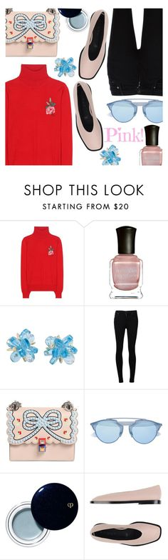 """""""Pink & Blue & Red & Black"""" by stacey-lynne ❤ liked on Polyvore featuring Gucci, Deborah Lippmann, Citizens of Humanity, Fendi, Christian Dior, Clé de Peau Beauté and Marni"""