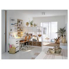 MICKE Ladeblok op wielen, wit, 35x75 cm - IKEA Ikea Micke, Plastic Drawers, White Desks, Drawer Unit, Types Of Flooring, Clever Design, Cool Chairs, Swivel Chair, Places