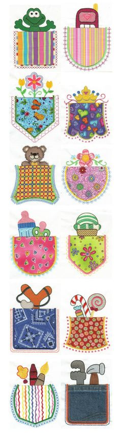 Embroidery | Free Machine Embroidery Designs | What's in your Pocket? Applique