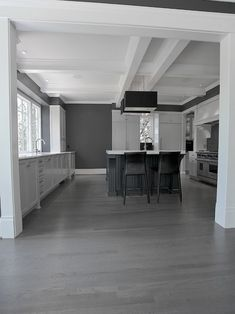 15 Stunning Grey Kitchen Floor Design Ideas is part of Grey Living Room Floor - Kitchen flooring might need to be practical and hardwearing, but there's no need for it to be dull Natural materials such as stone and wood flooring is Grey Laminate Flooring, Grey Hardwood Floors, Engineered Hardwood, Living Room Flooring, Kitchen Flooring, Bathroom Flooring, Living Rooms, Kitchen Cabinets, Floor Design