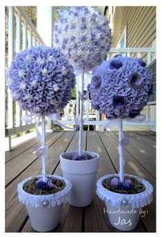 Topiary Centerpiece using spackle by Jasluv2create - Cards and Paper Crafts at Splitcoaststampers