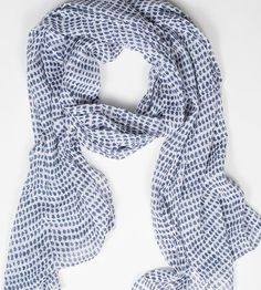 Navy Dot Cotton Scarf | For those days when it's a tad breezy, ever-so-slightly chilly.