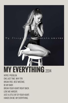 Minimalist Music, Minimalist Poster, Room Posters, Poster Wall, My Everything Ariana Grande, Photowall Ideas, Ariana Grande Poster, Vintage Music Posters, Artist Wall