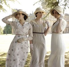 Sybil, Mary and Edith.  The sisters of Downton Abbey.