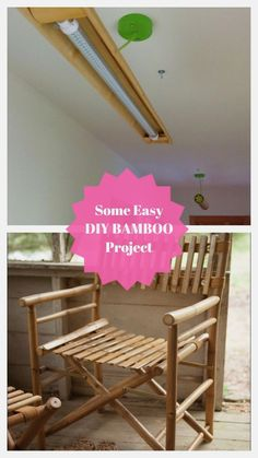 Ideal DIY Bamboo Project #diybamboo Outdoor Chairs, Outdoor Furniture, Outdoor Decor, Sensory Garden, Bamboo Crafts, Upcycling Projects, Diy Projects, Garden Art, Bamboo Ideas