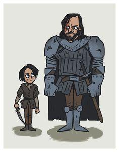 Arya and the Hound by ekzotik.deviantart.com on @DeviantArt