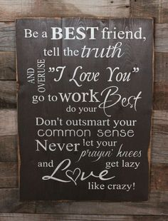 Love this song by Lee Brice!  Perfect reminder of how to live a good life!  Love like Crazy!