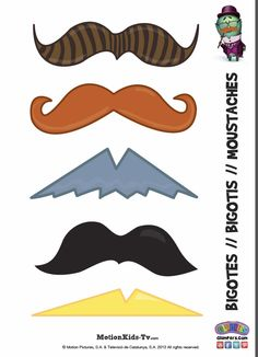 Haz tus complementos para disfraces. Divertidos bigotes para completar el disfraz de carnaval, fiestas de cumpleaños o fiestas de bigotes. Disfraces para niños! -- Make your costume accessories. Funny mustache to complete the costume carnival, birthday parties or parties mustaches. Costumes for Children!
