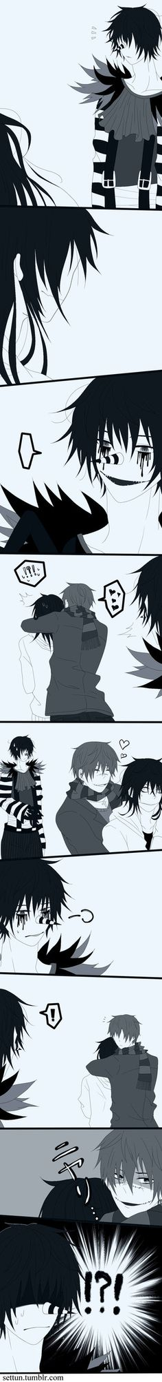 OMG LMAO THIS IS TOO PERFECT! ||Laughing Jack, Jeff the Killer, and Homicidal Liu~Creepypasta|| Laughing Jack x Jeff the Killer