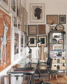 Collected Art. Neutral. Warm. White Walls.  Industrial.  Vintage. @TheDailyBasics ♥♥♥