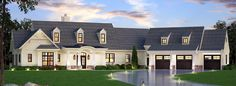 Country Style Floor Plans Plan: 24-242