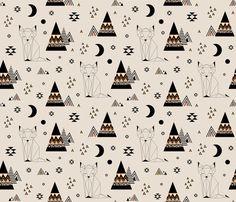 Distant Planet (Large) fabric by kimsa on Spoonflower - custom fabric