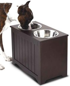 Dog feeder for large breeds with storage