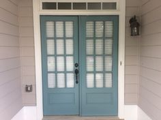 Doors - Sherwin Williams Moody Blue