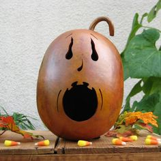 Gourd Halloween Jack-O-Lantern