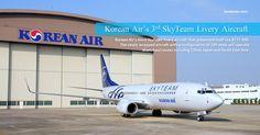 Korean Air added a 3rd aircraft in Skyteam colours