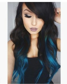 Are you looking for dark blue hair color for ombre and teal? See our collection full of dark blue hair color for ombre and teal and get inspired! Fall Hair Colors, Ombre Hair Color, Cool Hair Color, Blue Ombre, Teal, Dye My Hair, New Hair, Underlights Hair, Pretty Hairstyles