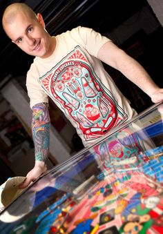Johnny Cupcakes. Pinball Guys, guys tee. Collectors beware!