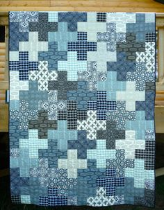 quilt patterns for men | used a solid binding, Kona Cotton in Pepper, for both quilts and a ...