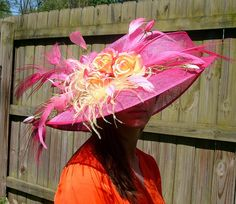 Items similar to Kentucky Derby Hat, Award Winning Design in Black and White, Belmont, Preakness on Etsy Derby Time, Derby Day, Fancy Hats, Kentucky Derby Hats, Love Hat, Summer Hats, Black And White, Strawberry Lemonade, Pink