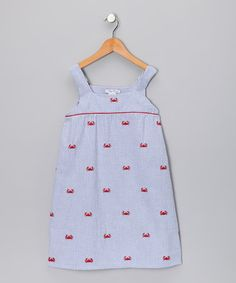 Take a look at this Blue Crab Babydoll Dress - Girls by Ollie & Bess on #zulily today!