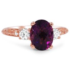 Love the purple and the rose gold