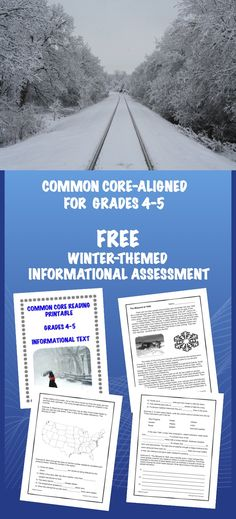 FREE winter-themed informational text assessment. As we now experience this cold and wild winter, how about teaching your students about one of the worst blizzards in United States history?