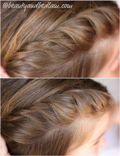 Easy half braid (will work with shorter hair)