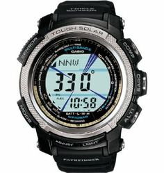 Casio Protrek PAW2000 Altimeter Watch Black, One Size Casio. $239.00. The Casio Pathfinder PAW2000 Altimeter Watch packs CasioAAAs Triple Sensor functions (altimeter, digital compass, and barometer/thermometer) into a slim, lightweight watch. Strap one on and keep critical data at your fingertips on all your outdoor adventures.Product FeaturesHousing Material: aluminum, resinStrap Material: resinAltimeter: yesAltimeter Max Height: 32,800 ftHeart Rate Monitor: noBarometer:...