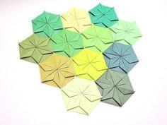 Origami Paper Modular Origami Paper Mosaic Origami by KaoriCraft