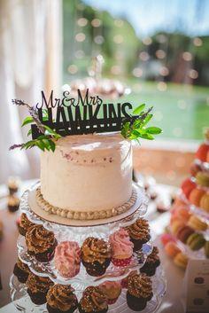 Cake Personalised Topper Whimsical Woodland Earthy Wedding Georgia http://www.ambercatherphotography.com/