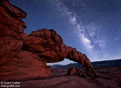 Milky Way Over Sunset Arch