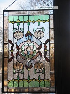 Vintage Stained Glass Windows | Antique American Stained Glass Window Panel 1940-Now photo 4