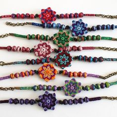 Colorful macramè bracelets #boho #macrame